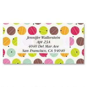 Doodle Dots Border Address Labels