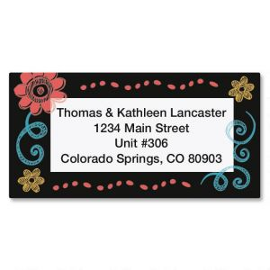 Slate Border Address Labels