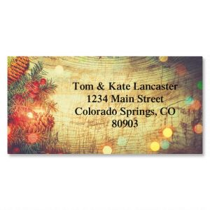 Rustic Lights Border Address Labels