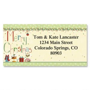 Christmas Treats Border Address Labels