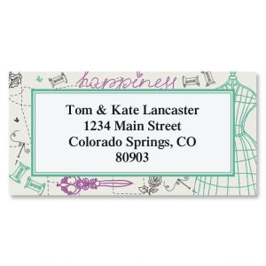 Sew Happy Border Address Labels