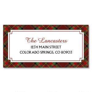 Plaid Border Address Labels