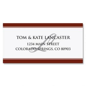Classic Red Border Address Labels