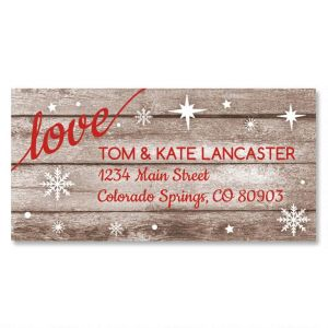 Christmas Merry Border Address Labels