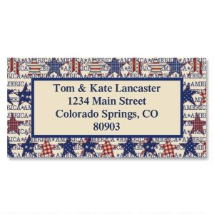 American Star Patch Border Address Labels
