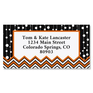 Halloween Infusion Border Return Address Labels