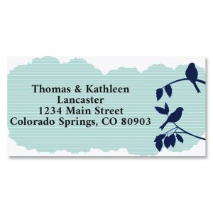 Morning Chirp Border Return Address Labels