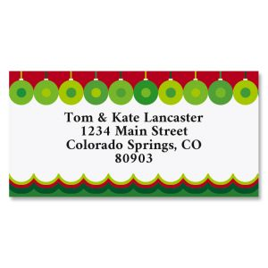 Abstract Christmas Border Address Labels