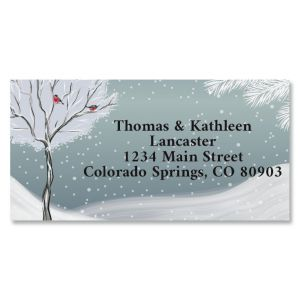 Winter Park Border Return Address Labels