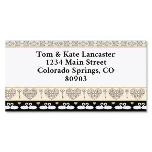 Celebrating Love Valentines Border Return Address Labels