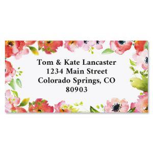 Blushing Garden Border Return Address Labels