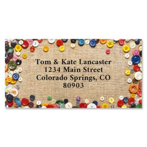 Button Up Border Return Address Labels
