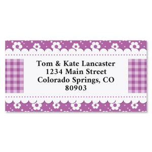 Floret Border Return Address Labels