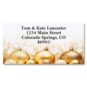 Golden Palms Foil Border Address Labels