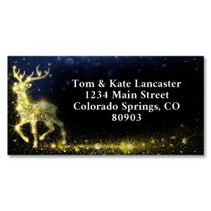 Golden Palms Foil Border Address Labels