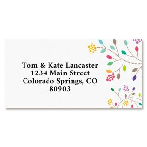 Flower Fun Border Address Label