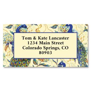 Peacock Paradise Border Return Address Labels