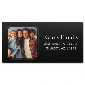 Modern Border Photo Return Address Label