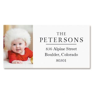 Classic Border Photo Return Address Label