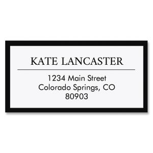 Lux Border Return Address Labels