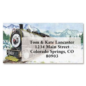 Vintage Travel Border Return Address Labels