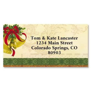 Winter Garden Border Return Address Labels