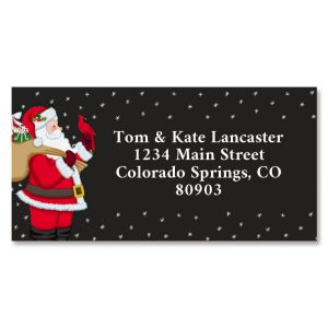 Santa's Visit Border Return Address Labels