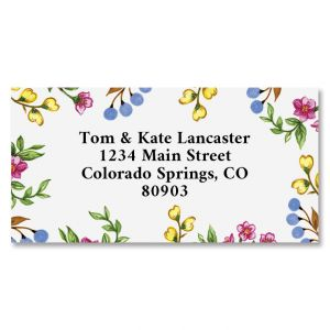 Sweet Blossoms Border Return Address Labels