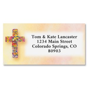 Blooming Cross Border Return Address Labels