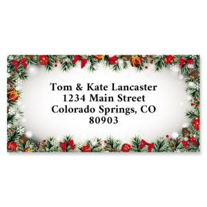Christmas Frame Border Return Address Labels