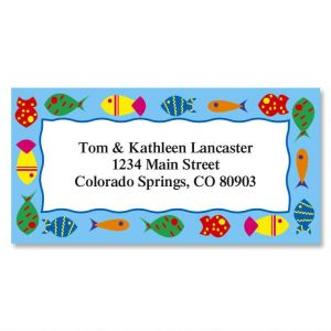 Fish on Parade  Border Address Labels