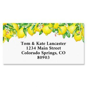 Blooming Lemons Border Return Address Labels