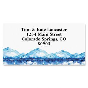Mountain Landscape Border Return Address Labels