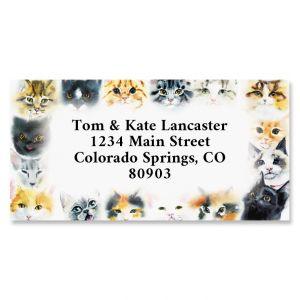 So Many Cats Border Return Address Labels
