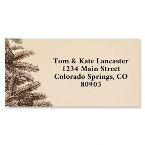 Pine Tree Border Return Address Labels