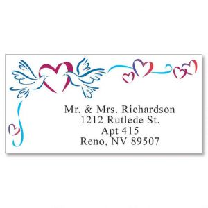 Sweetheart Doves Border Address Labels
