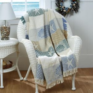 Seashells by the Seashore Throw