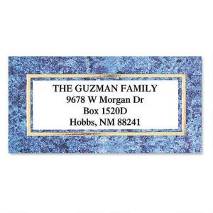 Granite & Gold  Foil Border Address Labels