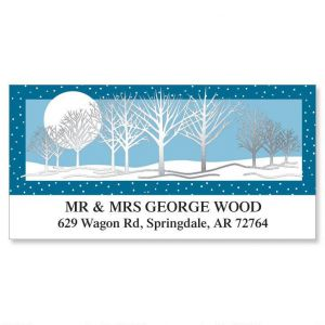 Snowscape  Foil Deluxe Address Labels
