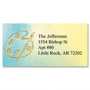 Golden Palette Foil Border Address Labels