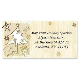 Joyful  Foil Border Address Labels