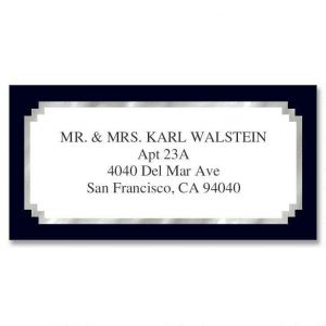 Black & Silver Foil Border Return Address Labels