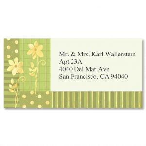 Gilded Field Foil Border Address Labels