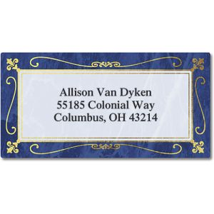 Imperial  Foil Border Return Address Labels
