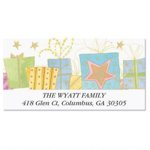 Patterns of Gold  Foil Deluxe Address Labels