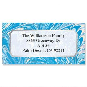 Marble Fancy Foil Border Address Labels