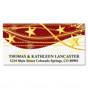 Sparkling Stars Deluxe Address Labels