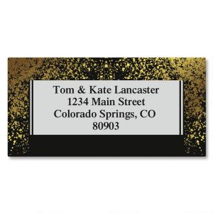 Gold Dust Foil Border Address Labels