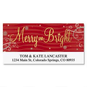 Merry & Bright Foil Deluxe Address Labels