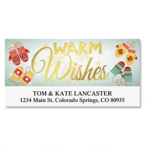 Warm Wishes Foil Deluxe Address Labels